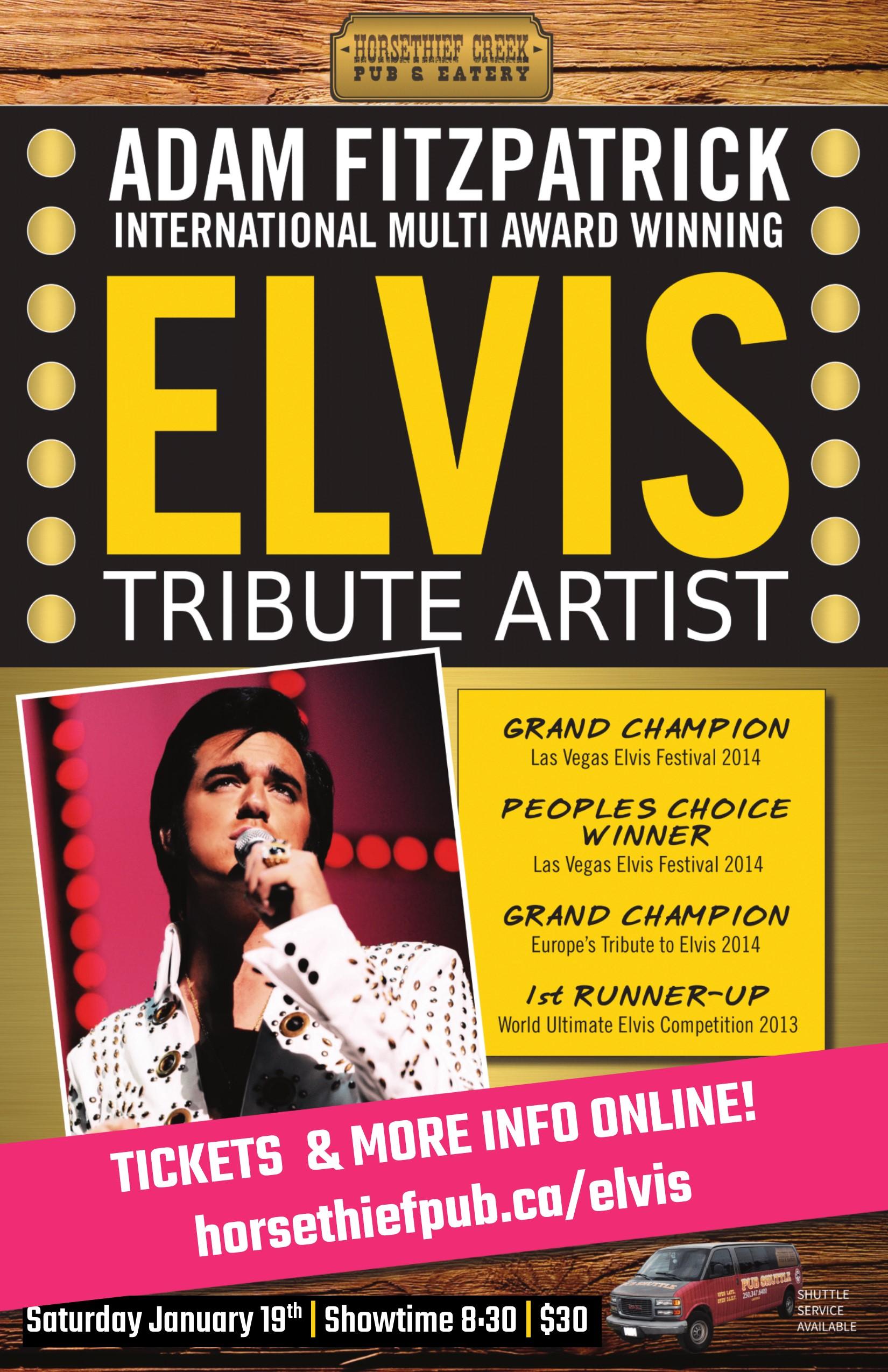 Elvis Tribute Artist Adam Fitzpatrick at the Horsethief Pub